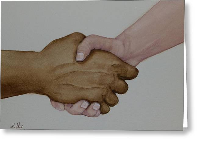 Let's Shake Hands On It Greeting Card