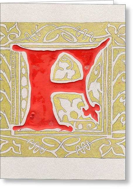 Letter F Greeting Card by Kristine Jansone