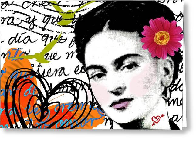 Letter To Frida - Carta A Frida Greeting Card by Laura  Gomez