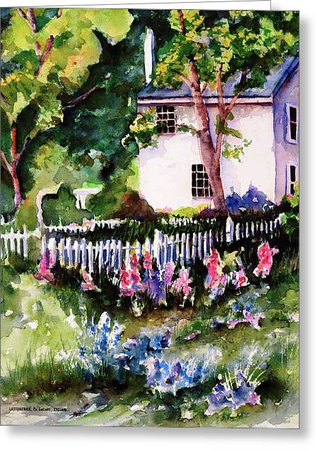 Greeting Card featuring the painting Letterfrack Ireland by Marti Green