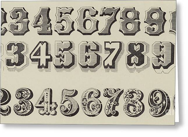 Letters And Numbers Greeting Card