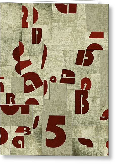 Letters Collage Greeting Card by Larisa Siverina