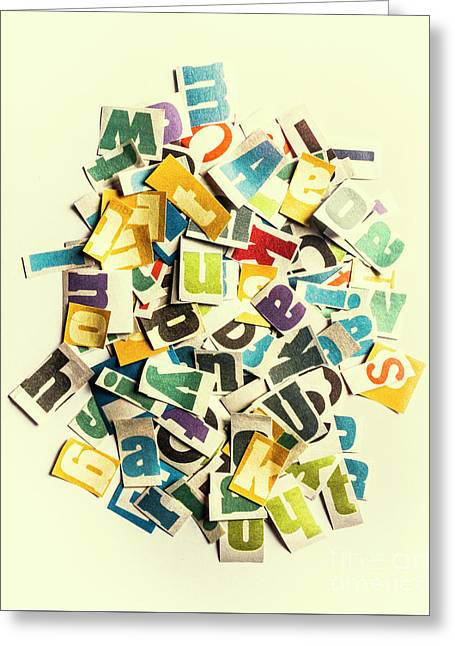 Letters In Jumble Greeting Card