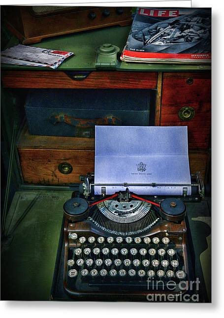 Letters To Home Greeting Card by Paul Ward