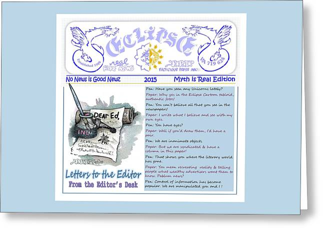 Real Fake News Letters To The Editor Greeting Card
