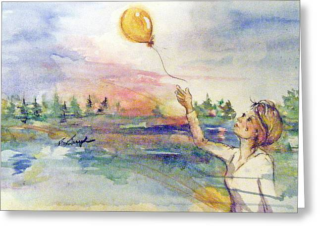 Letting Go Greeting Card by Terry Cox Joseph