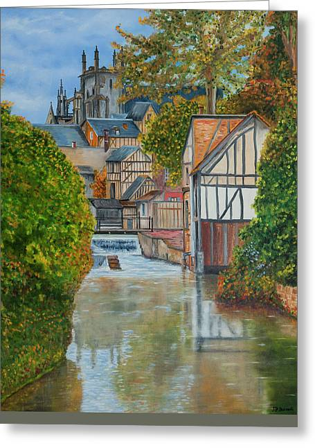 L'eure A Louviers -  France Greeting Card