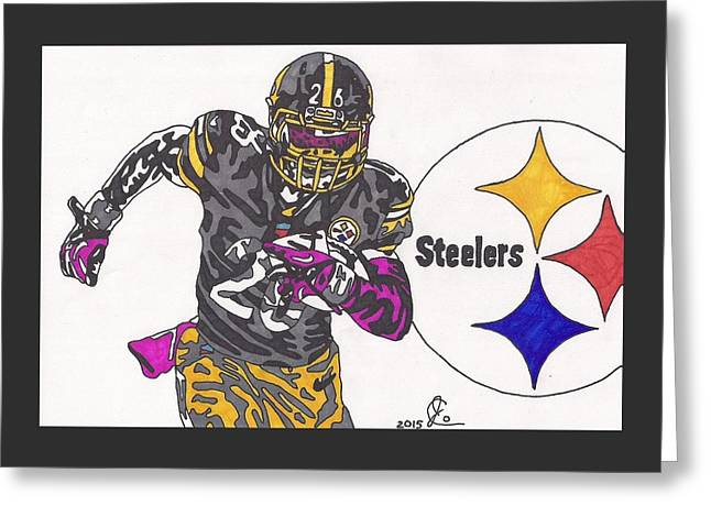Le'veon Bell 2 Greeting Card by Jeremiah Colley