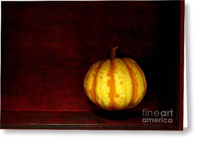 Levitate Pumpkin - Still Life Greeting Card by Birgit Moldenhauer