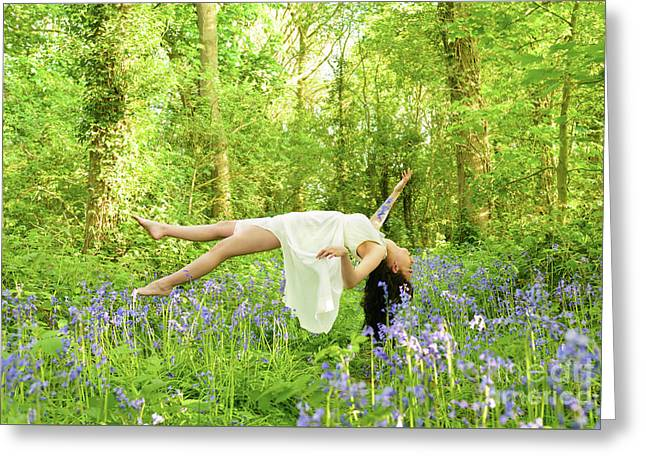 Levitation In Bluebells Greeting Card