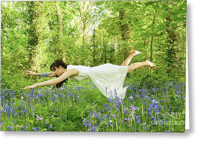 Levitation In The Bluebells Greeting Card