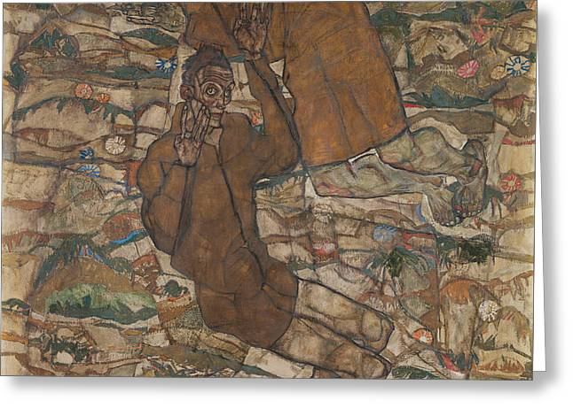 Levitation The Blind II 1915 Greeting Card by Egon Schiele