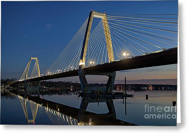 Greeting Card featuring the photograph Lewis And Clark Bridge - D009999 by Daniel Dempster