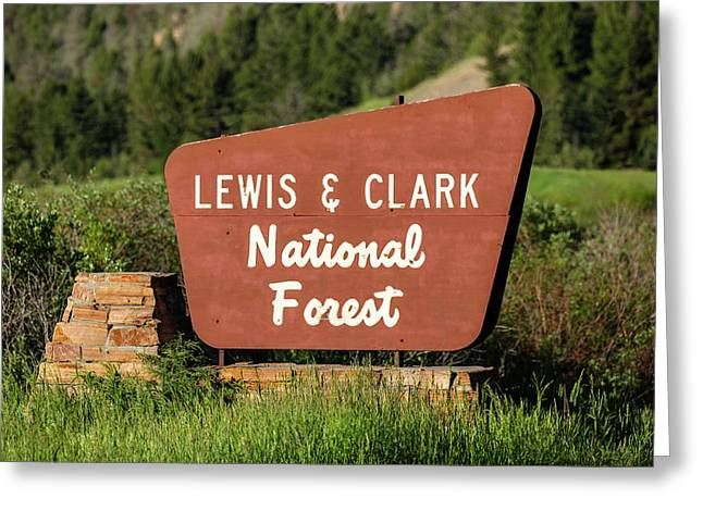 Lewis And Clark National Forest Greeting Card by Todd Klassy