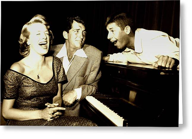 Lewis And Martin And  Rosemary Clooney 1950s Greeting Card by N B C
