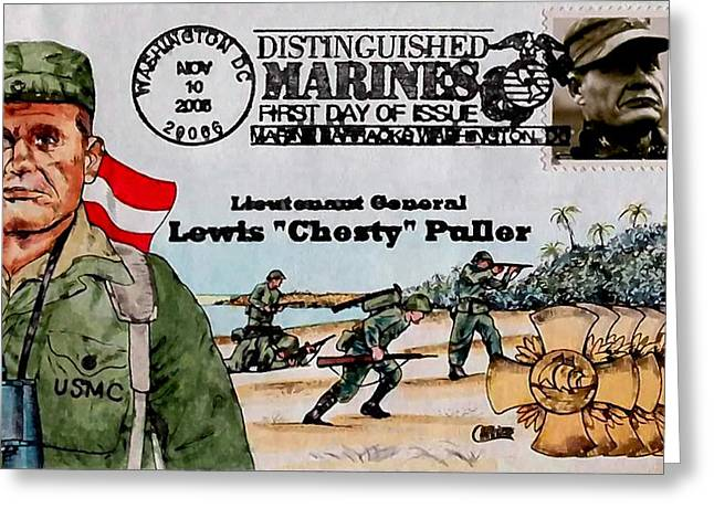 Lewis B. Puller Greeting Card by Lanjee Chee