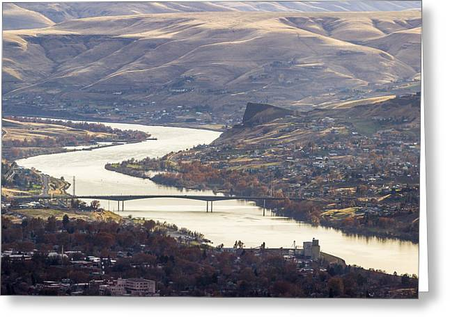 Lewis Clark Valley Greeting Card by Brad Stinson