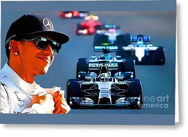 Lewis Hamilton F1 Greeting Card