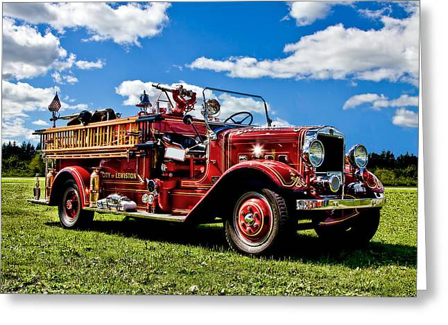 Lewiston Fire Truck Greeting Card