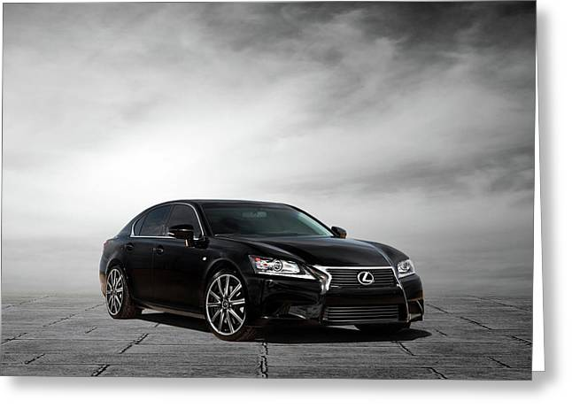 Greeting Card featuring the digital art Lexus Gs350 F Sport by Peter Chilelli