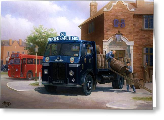 Leyland Dray. Greeting Card by Mike  Jeffries