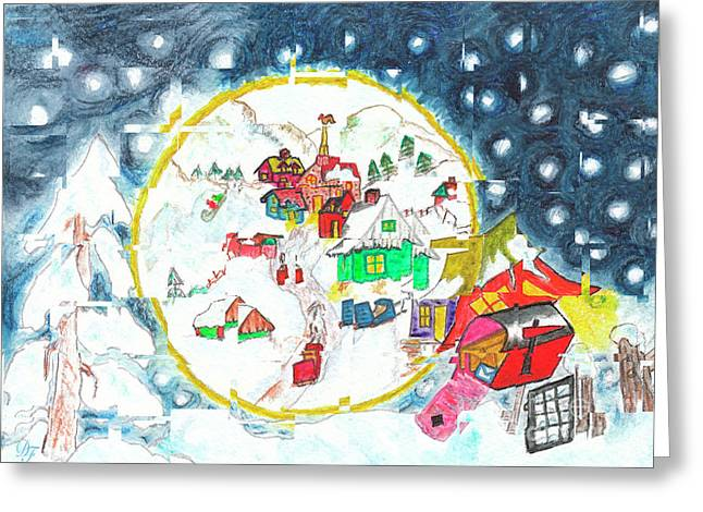 L'hiver Au Cube / Winter Cubed Greeting Card