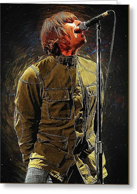 Liam Gallagher Oasis Greeting Card