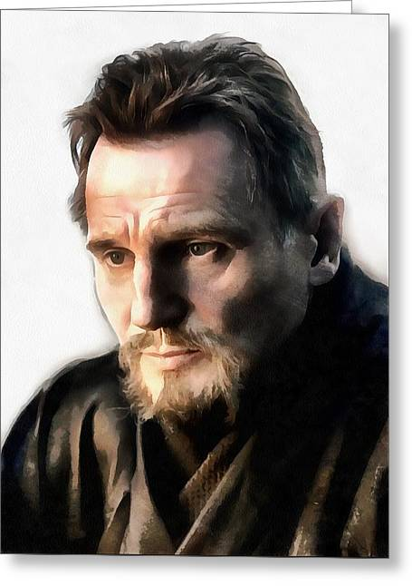 Liam Neeson Greeting Card by Sergey Lukashin