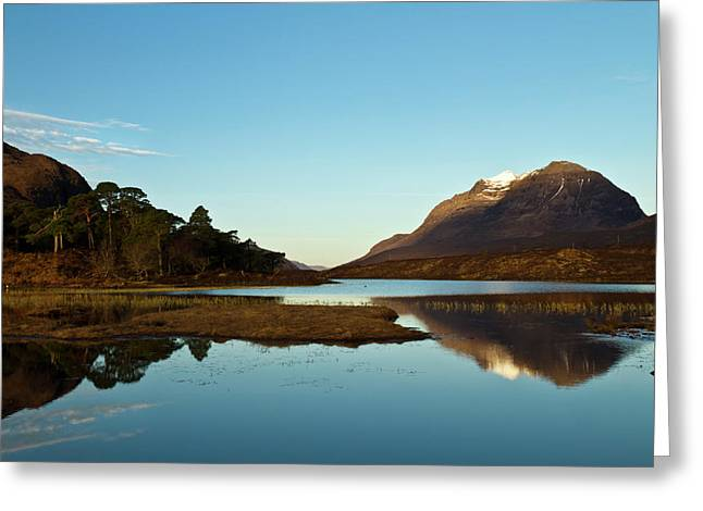 Liathach Sunrise Reflections Greeting Card by Bill Buchan