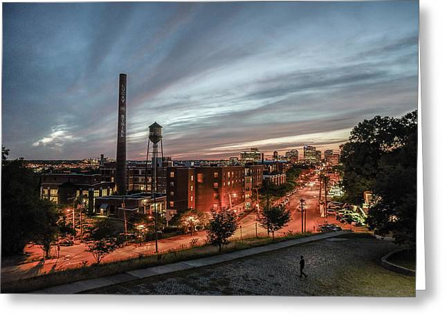 Libby Hill Post Sunset Greeting Card