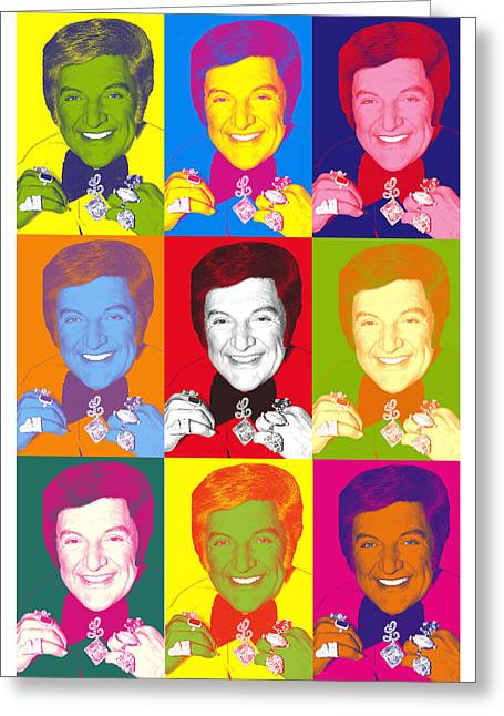 Liberace 9 Times Greeting Card by Ken Surman