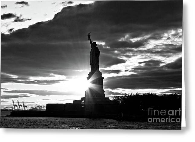 Greeting Card featuring the photograph Liberty by Ana V Ramirez