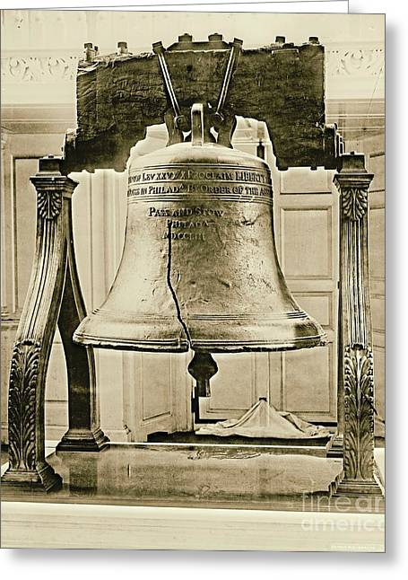 Liberty Bell At Independence Hall 1901 Greeting Card