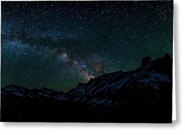 Liberty Bell Mountain Milky Way Greeting Card