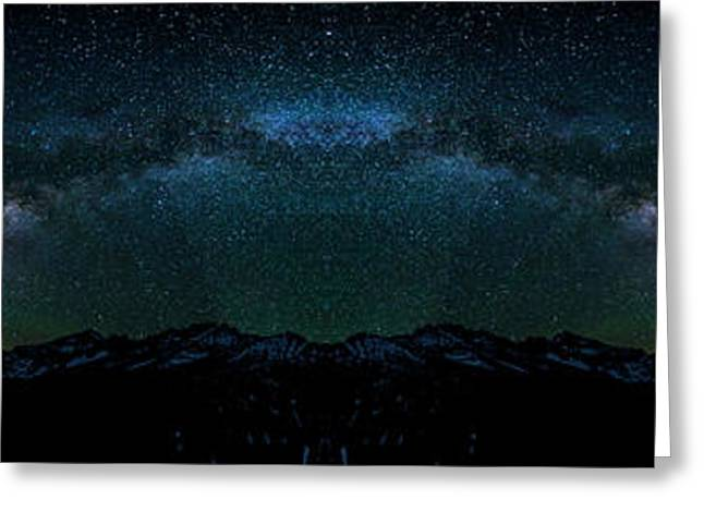 Liberty Bell Mountain Milky Way Reflection Greeting Card