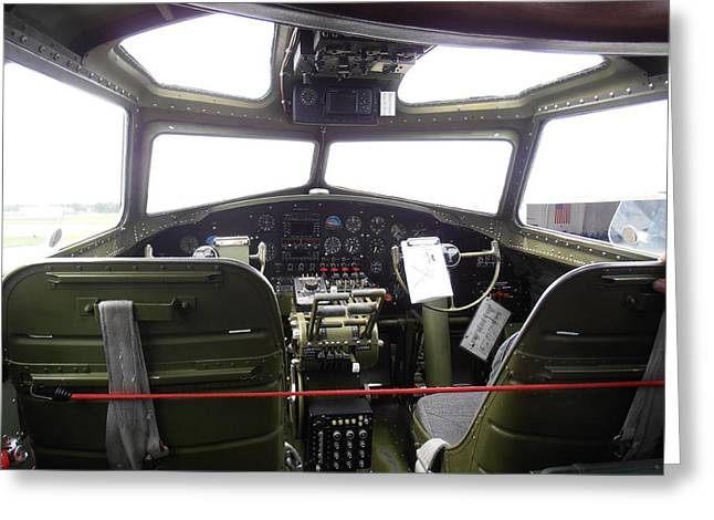 Liberty Belle B17 Cockpit Greeting Card