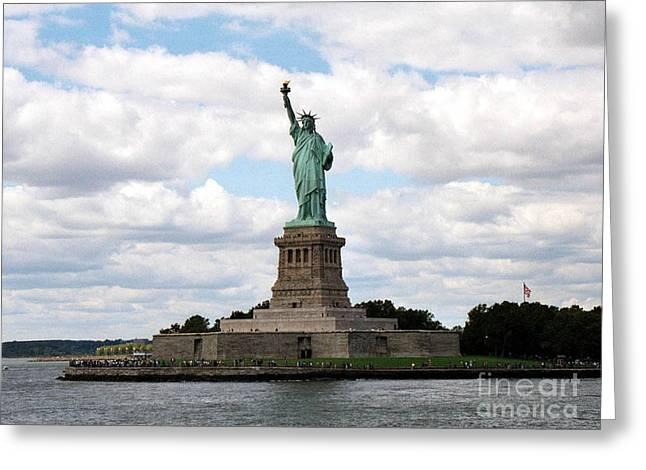 Liberty For All Greeting Card by Deborah Selib-Haig DMacq