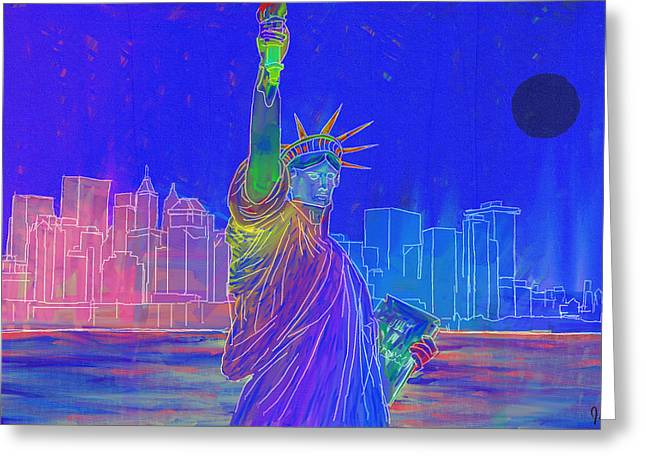 Liberty - Inverted Greeting Card
