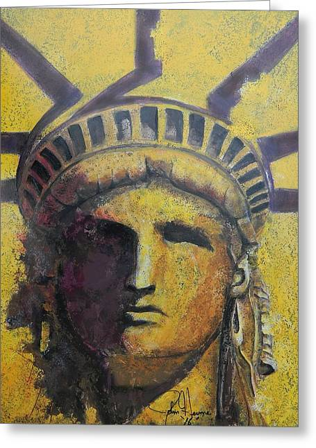 Liberty Greeting Card by John Henne