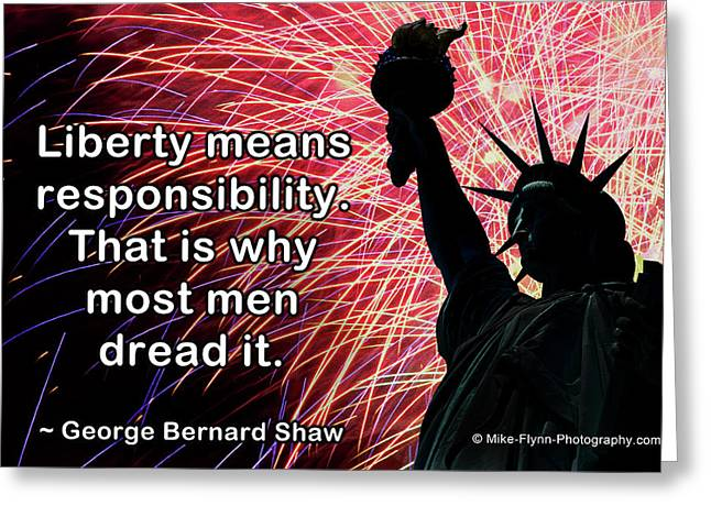 Liberty Means Responsibility Greeting Card