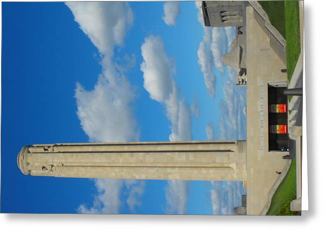 Liberty Memorial On A Perfect Day Greeting Card