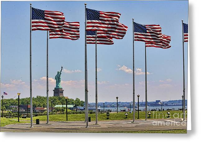 Liberty Park Greeting Card by Chuck Kuhn