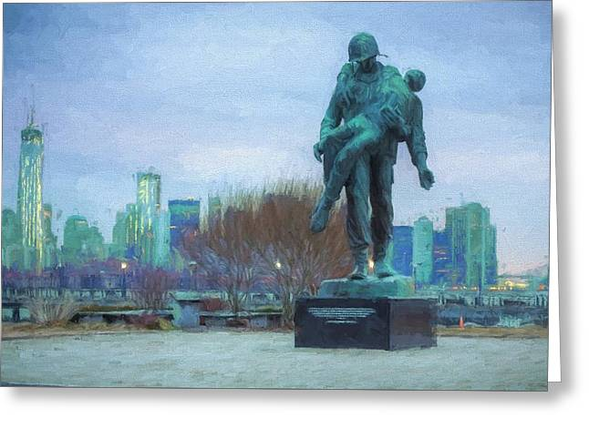 Liberty Park Holocaust Memorial Greeting Card by JC Findley