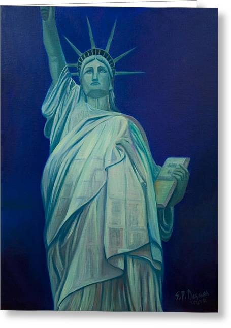 Liberty Greeting Card by Stephen Degan
