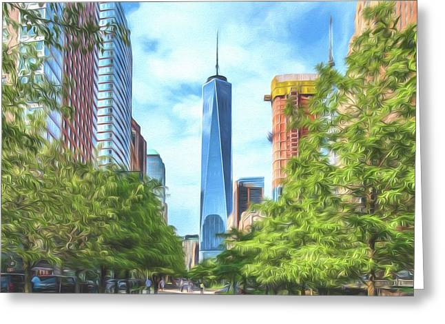 Greeting Card featuring the photograph Liberty Tower by Theodore Jones