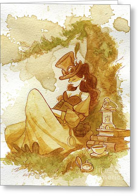 Victorian greeting cards fine art america librarian greeting card m4hsunfo