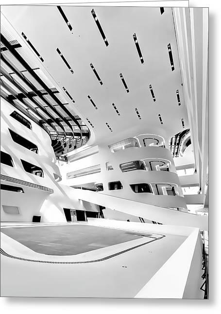 Library Interior 3 Zaha Hadid Wu Campus Vienna  Greeting Card