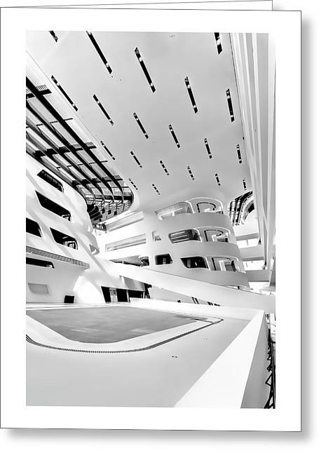 Library Interior 3 Zaha Hadid Wu Campus Vienna  Greeting Card