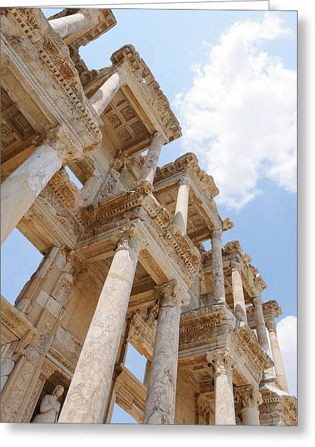 Library Of Celsus Greeting Card