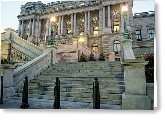 Library Of Congress Greeting Card by Greg Mimbs